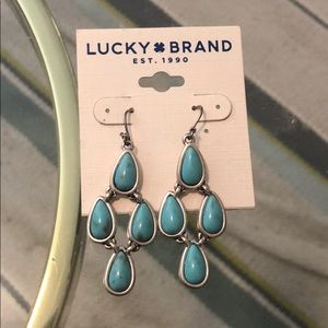 Lucky Brand Turquoise Dangling Earrings NWT